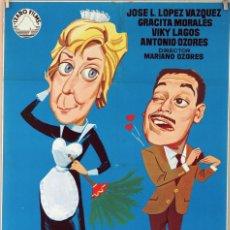 Cine: CHICA PARA TODO. GRACITA MORALES-J.LUIS LÓPEZ VÁZQUEZ. CARTEL ORIGINAL 1963. 70X100. Lote 81112540