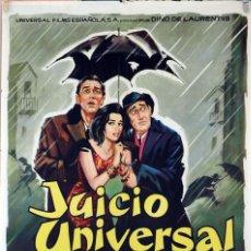 Cine: JUICIO UNIVERSAL. VITTORIO DE SICA-SILVANA MANGANO-VITTORIO GASSMAN. CARTEL ORIGINAL 1963. 70X100. Lote 81114124