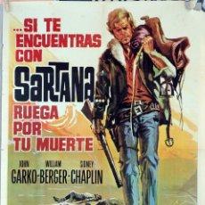 Cine: SI TE ENCUENTRAS CON SARTANA RUEGA POR TU MUERTE. FERNANDO SANCHO. CARTEL ORIGINAL 1969. 70X100. Lote 81114604