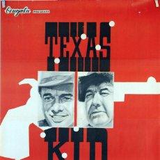 Cine: TEXAS KID. LESLIE SELANDER. CARTEL ORIGINAL 1966. 70X100. Lote 81116708