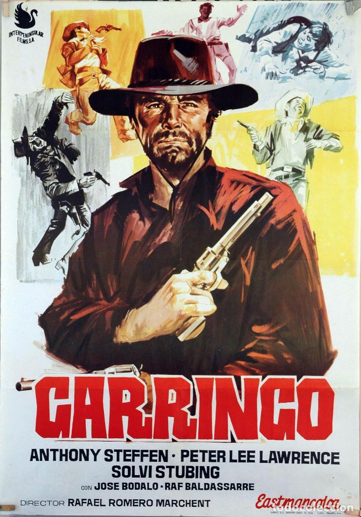 GARRINGO. JOSÉ BÓDALO-RAFAEL ROMERO. CARTEL ORIGINAL 1970. 70X100 (Cine - Posters y Carteles - Westerns)