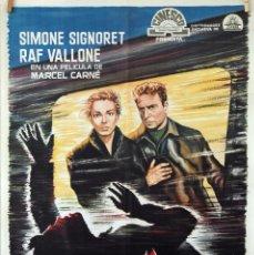 Cine: TERESA RAQUIN. SIMONE SIGNORET-RAF VALLONE- MARCEL CARNÉ. CARTEL ORIGINAL 1965. 70X100. Lote 81122136