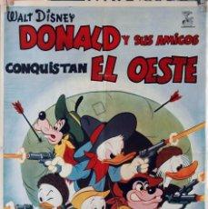 Cine: DONALD Y SUS AMIGOS CONQUISTAN EL OESTE. WALT DISNEY. CARTEL ORIGINAL 1966. 70X100. Lote 81123080