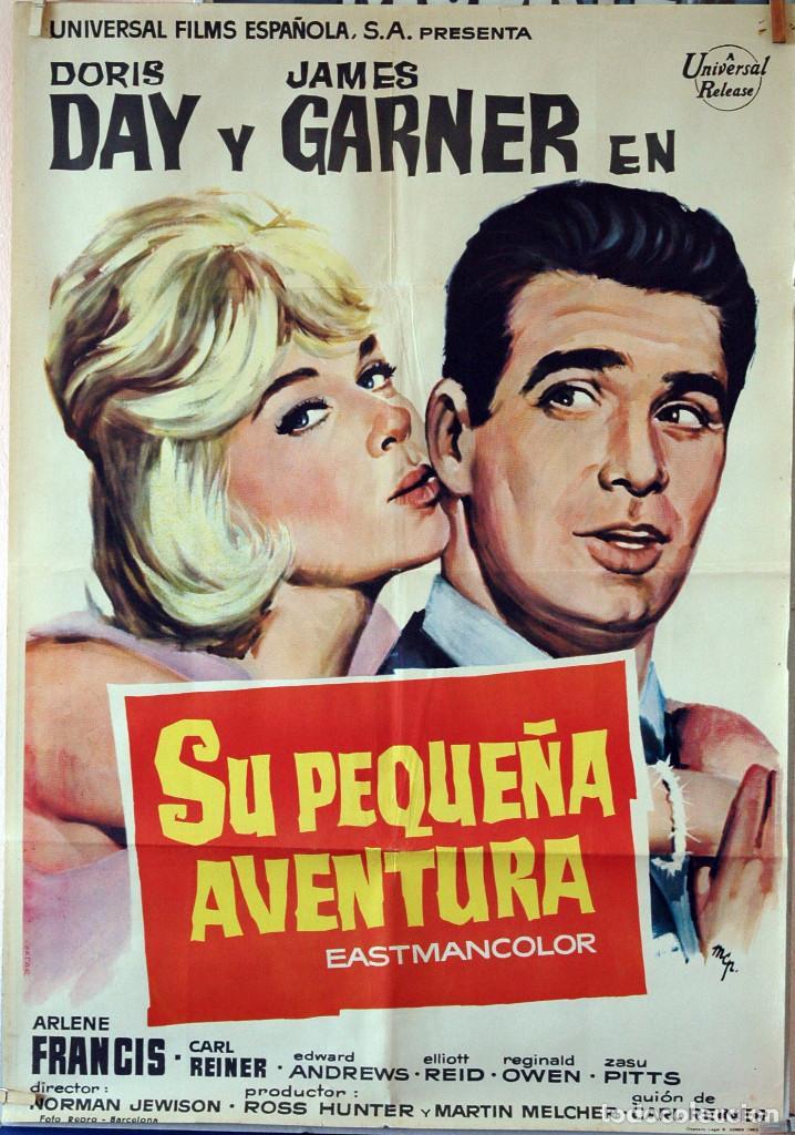 SU PEQUEÑA AVENTURA. DORIS DAY-JAMES GARNER-NORMAN JEWISON. CARTEL ORIGINAL 1963. 70X100 (Cine - Posters y Carteles - Comedia)