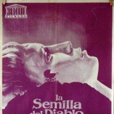 Cine: LA SEMILLA DEL DIABLO. ROMAN POLANSKI. MIA FARROW-JOHN CASSAVETES. CARTEL ORIGINAL 1968. 70X100. Lote 81156408