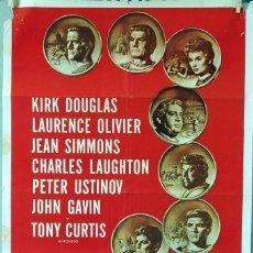 Cine: ESPARTACO. KIRK DOUGLAS-JEAN SIMMONS- STANLEY KUBRICK. CARTEL ORIGINAL 1960. 70X100. Lote 81157508