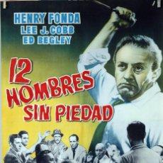 Cine: 12 HOMBRES SIN PIEDAD. HENRY FONDA-SIDNEY LUMET. CARTEL ORIGINAL 70X100. Lote 81159108