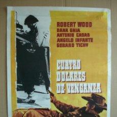 Cine: CARTEL, POSTER CINE -ORIGINAL - CUATRO DOLARES DE VENGANZA- WESTERN - AÑO 1975... R- 5298. Lote 81872092