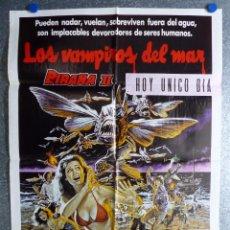 Cine: LOS VAMPIROS DEL MAR, PIRAÑA II - AÑO 1982. Lote 81918064