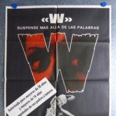 Cine: W, SUSPENSE MAS ALLA DE LAS PALABRAS - AÑO 1975. Lote 81919036