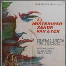 Cine: XR95 EL MISTERIOSO SEÑOR VAN EYCK ESPARTACO SANTONI SUBMARINISMO POSTER ORIGINAL 70X100 DEL ESTRENO. Lote 82030916