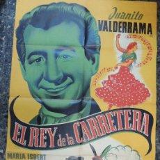 Cine: EL REY DE LA CARRETERA - POSTER CARTEL ORIGINAL - JUANITO VALDERRAMA JUAN FORTUNY DIBUJO OLCINA . Lote 82079772