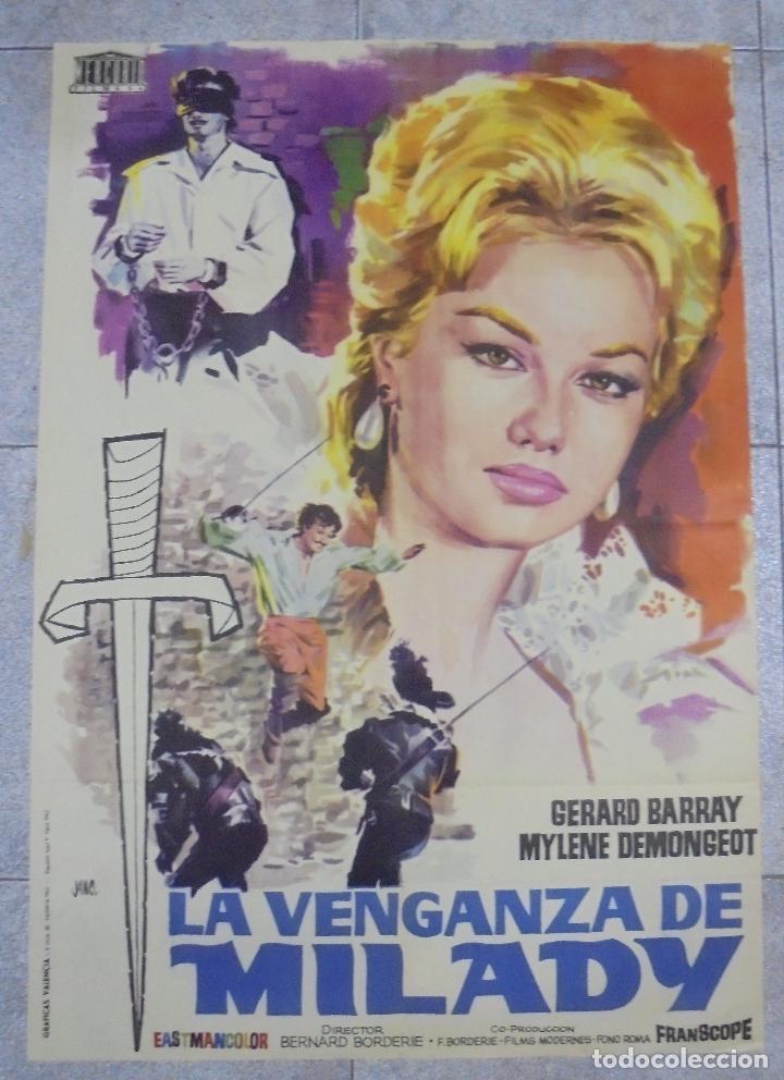 CARTEL DE CINE ORIGINAL. LA VENGANZA DE MILADY. 1962. 99 X 70 CM (Cine - Posters y Carteles - Aventura)