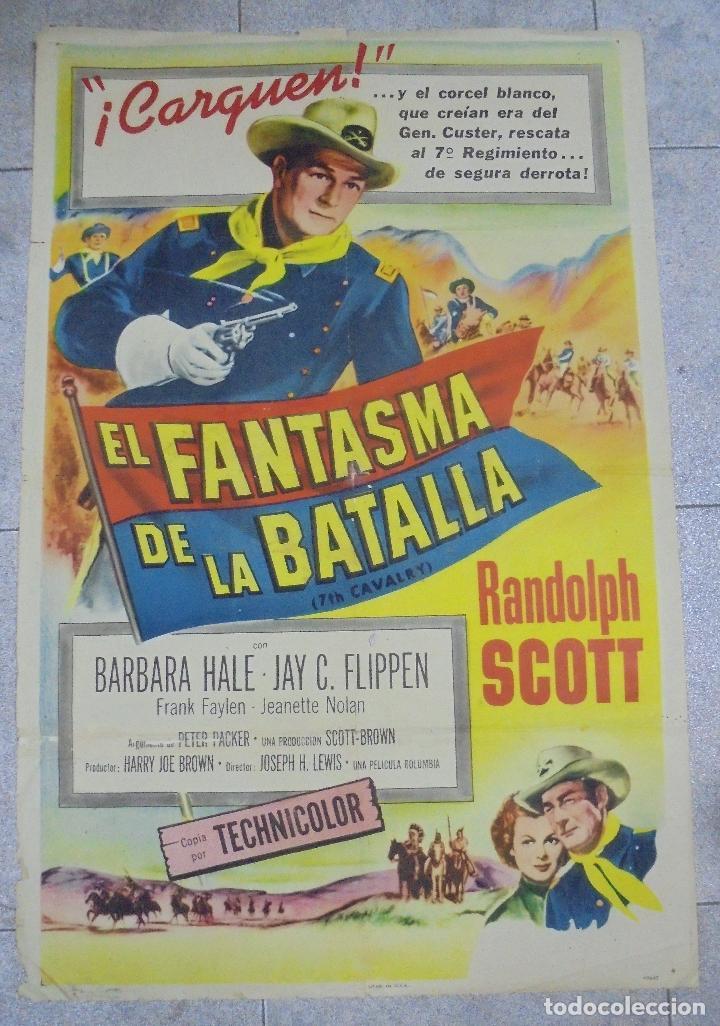 CARTEL DE CINE ORIGINAL. EL FANTASMA DE LA BATALLA. 99 X 70 CM (Cine - Posters y Carteles - Westerns)