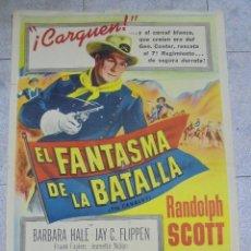 Cine: CARTEL DE CINE ORIGINAL. EL FANTASMA DE LA BATALLA. 99 X 70 CM. Lote 82276080