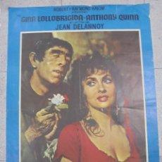 Cine: CARTEL DE CINE ORIGINAL. NOTRE DAME DE PARIS. 1970. 100X70CM. Lote 82278328