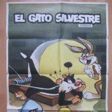 Cine: CARTEL CINE, EL GATO SILVESTRE, 1974, WARNER BROS,, C1032. Lote 82484700