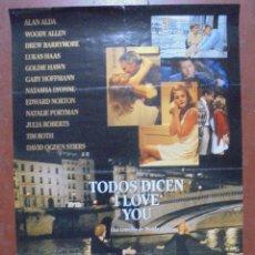 Cine: CARTEL DE CINE ORIGINAL. TODOS DICEN I LOVE YOU. 97X70 CM. Lote 82525244