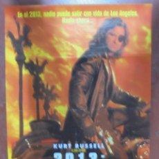 Cine: CARTEL DE CINE ORIGINAL. 2013: RESCATE EN LA ISLA. 98X68 CM. Lote 94956016