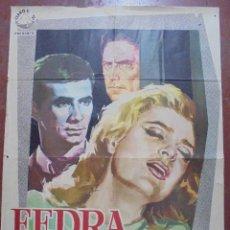 Cine: CARTEL DE CINE ORIGINAL. FEDRA. 1963. 100X69CM. Lote 82540740