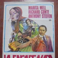 Cine: CARTEL DE CINE ORIGINAL. LA ENCADENADA. 1974. 100X69CM. Lote 82541220