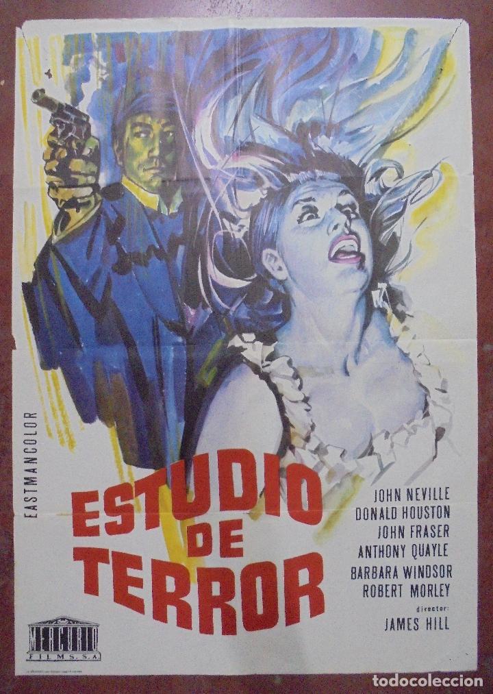 CARTEL DE CINE ORIGINAL. ESTUDIO DE TERROR. 1966. 100X70CM (Cine - Posters y Carteles - Terror)