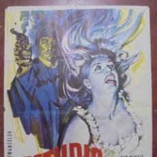 Cine: CARTEL DE CINE ORIGINAL. ESTUDIO DE TERROR. 1966. 100X70CM. Lote 82694296