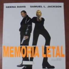Cine: CARTEL DE CINE ORIGINAL. MEMORIA LETAL. 1996. 100X70 CM. Lote 82719016