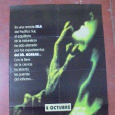 Cine: CARTEL DE CINE ORIGINAL. 4 OCTUBRE. ISLA. DEL DR. MOREAU. 96X67 CM. Lote 82729804