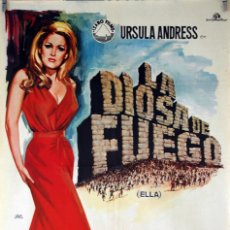 LA DIOSA DE FUEGO. URSULA ANDRESS-PETER CUSHING-CHRISTOPHER LEE. CARTEL ORIGINAL 1965 70X100