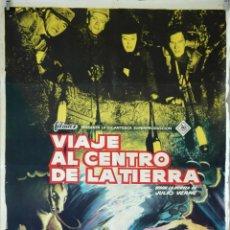 Cine: VIAJE AL CENTRO DE LA TIERRA. JAMES MASON-HENRY LEVIN. CARTEL ORIGINAL 1960. 70X100. Lote 83051548