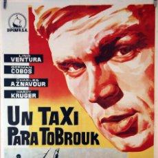 Cine: UN TAXI PARA TOBRUK. LINO VENTURA. CARTEL ORIGINAL 1961. 70X100. Lote 83120220