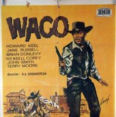 Cine: WAKO. CARTEL ORIGINAL 1968. 70X100. Lote 83120728