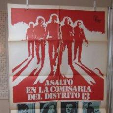 Cine: CARTEL CINE ORIG ASALTO EN LA COMISARIA DEL DISTRITO 13 (1976) 70X100 / JOHN CARPENTER. Lote 83276804