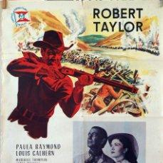 Cine: LA PUERTA DEL DIABLO. ROBERT TAYLOR-ANTHONY MANN. CARTEL ORIGINAL 1962. 70X100. Lote 83312968