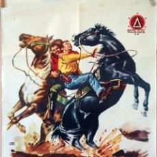 Cine: EL CORREO DEL NORTE. LUIS AGUILAR. CARTEL ORIGINAL 1962. 70X100. Lote 83314000