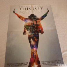 Cine: POSTER (57CM X 41CM)DOBLE CARA-MICHAEL JACKSON(THIS IS IT) Y EDWARD(CREPUSCULO). Lote 83410260