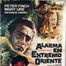 Cine: ALARMA EN EXTREMO ORIENTE. PETER FINCH-RONALD NEAME. CARTEL ORIGINAL 1959. 70X100. Lote 83411264