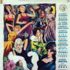 Cine: VACACIONES EN CORTINA DAMPEZZO. ALBERTO SORDI-VITTORIO DE SICA. CARTEL ORIGINAL 1960. 70X100. Lote 83412656
