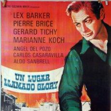 Cine: UN LUGAR LLAMADO GLORY. LEX BARKER. CARTEL ORIGINAL 1965. 70X100. Lote 83413488