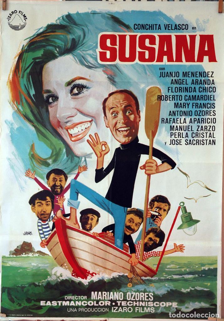 SUSANA. CONCHA VELASCO-JUANJO MENÉNDEZ. CARTEL ORIGINAL 1969. 70X100 (Cine - Posters y Carteles - Clasico Español)