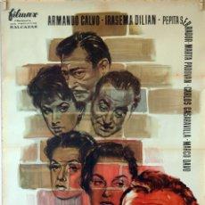 Cine: LA MURALLA. LUIS LUCIA-ARMANDO CALVO. CARTEL ORIGINAL 1958. 70X100. Lote 83415172