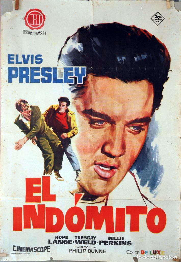 EL INDÓMITO. ELVIS PRESLEY. CARTEL ORIGINAL 1962. 70X100 (Cine - Posters y Carteles - Musicales)