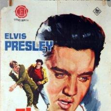 Cine: EL INDÓMITO. ELVIS PRESLEY. CARTEL ORIGINAL 1962. 70X100. Lote 83515592