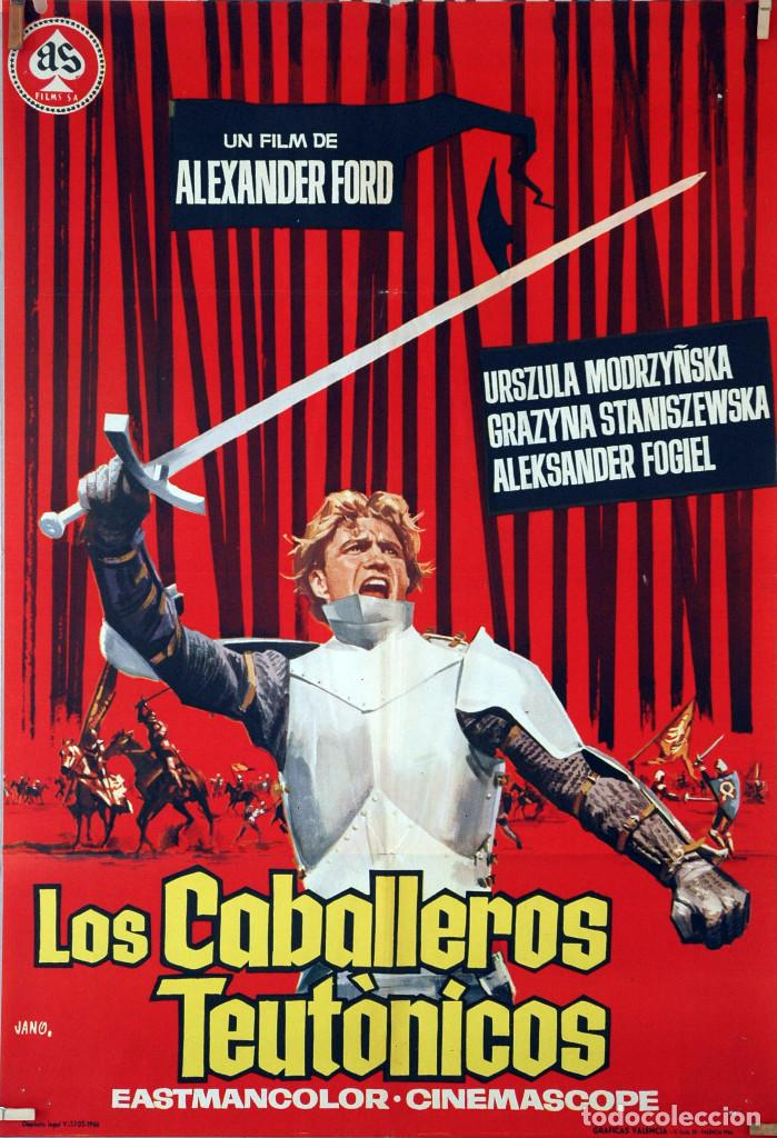 LOS CABALLEROS TEUTÓNICOS. ALEXANDER FORD. CARTEL ORIGINAL 1966. 70X100 (Cine - Posters y Carteles - Aventura)