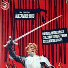 Cine: LOS CABALLEROS TEUTÓNICOS. ALEXANDER FORD. CARTEL ORIGINAL 1966. 70X100. Lote 83516220