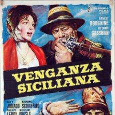 Cine: VENGANZA SICILIANA. ERNEST BORGNINE-VITTORIO GASSMAN. CARTEL ORIGINAL 1962 100X70. Lote 83518572