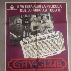 Cine: POSTER CARTEL DE LA PELÍCULA GAY CLUB, 100 X 70. Lote 83568424