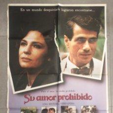 Cine: POSTER CARTEL DE LA PELÍCULA SU AMOR PROHIBIDO, 100 X 70. Lote 83571820