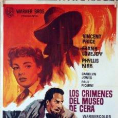 Cine: LOS CRÍMENES DEL MUSEO DE CERA. VINCENT PRICE-ANDRE DE TOTH. CARTEL ORIGINAL 1966. 70X100. Lote 83699724